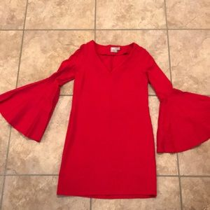 ASOS red bell-sleeve dress size 4